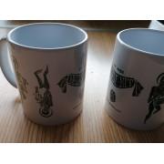 Negra Nit Esquelets Mug